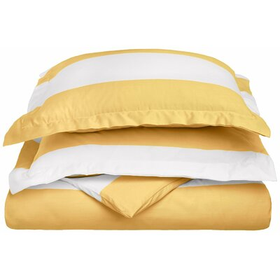 Silva Reversible Duvet Cover Set Size: Twin, Color: Mustard