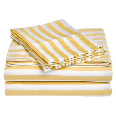 Ariel 600 Thread Count Cotton Blend Sheet Set Size: Full, Color: Mustard