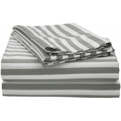 Silva 600 Thread Count Sheet Set Size: King, Color: Grey