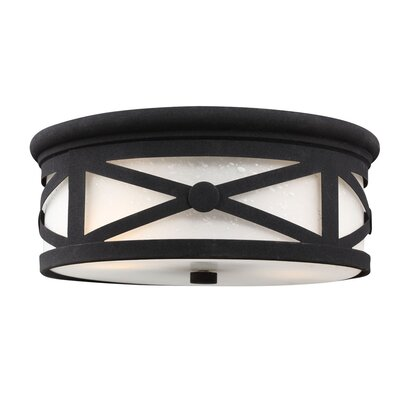 Falmouth 2-Light Flush Mount Finish: Black