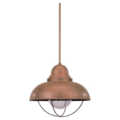 Corbel 1-Light LED Mini Pendant Finish: Weathered Copper, Size: 15 H x 16.75 W x 16.75 D