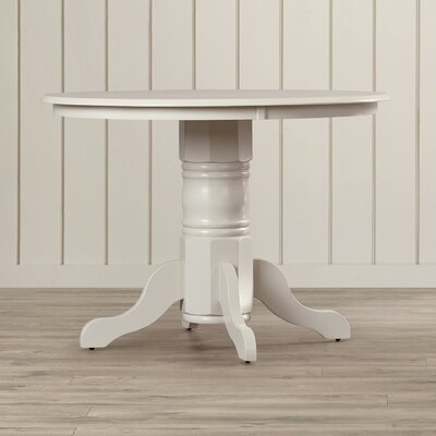 Langwater Dining Table Color: Linen White