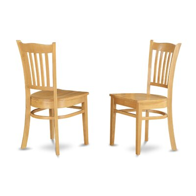 Langwater Solid Wood Dining Chair (Set of 2) Finish: Oak
