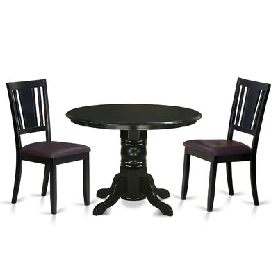 Langwater 3 Piece Solid Wood Dining Set