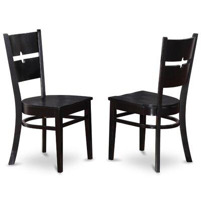 Gloucester Side Chair (Set of 2) Finish: Black