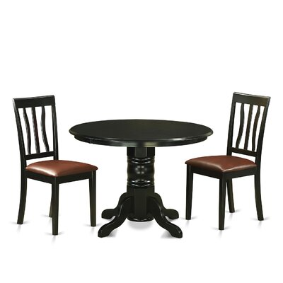 Langwater 3 Piece Pedestal Dining Set