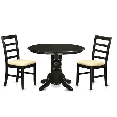 Langwater 3 Piece Pedestal Wood Dining Set