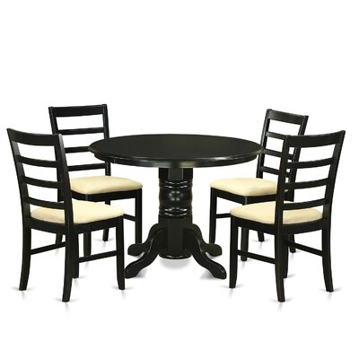 Langwater Traditional 5 Piece Wood Dining Set