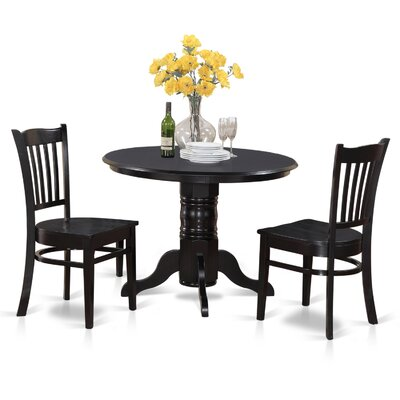Langwater 3 Piece Bistro Set Finish: Black