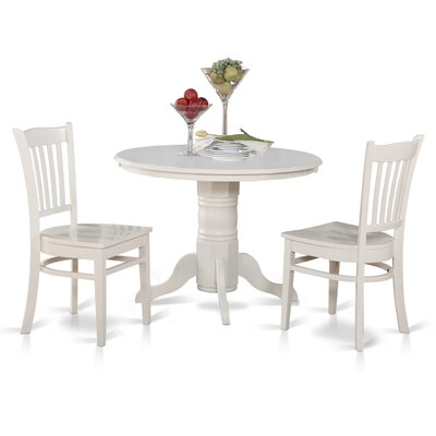Langwater 3 Piece Bistro Set Color: Linen White