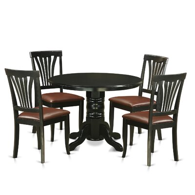 Langwater Traditional 5 Piece Pedestal Dining Set