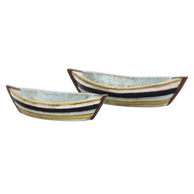 2 Piece Baja Decorative Boat Dish Set