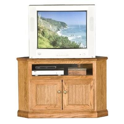 Didier Wood Corner TV Stand Color: Unfinished, Width of TV Stand: 27 H x 50 W x 17 D