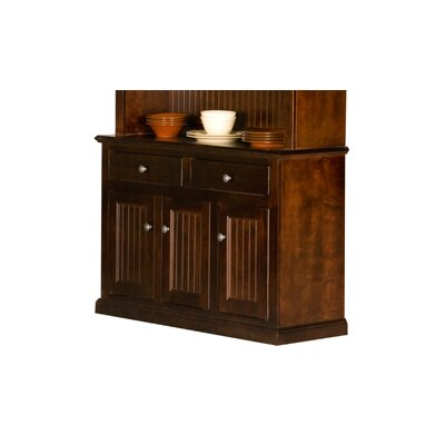 Meredith Server Color: Caribbean Rum, Door Type: Wood