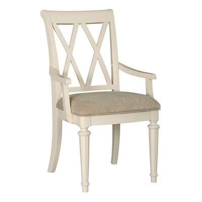 Baileyville Splat Back Arm Chair (Set of 2) Finish: Ivory