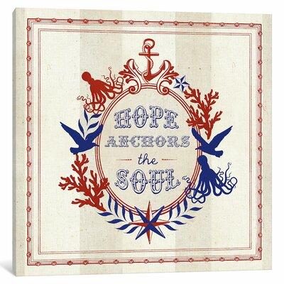 Nautical Wisdom II Textual Art on Wrapped Canvas Size: 12