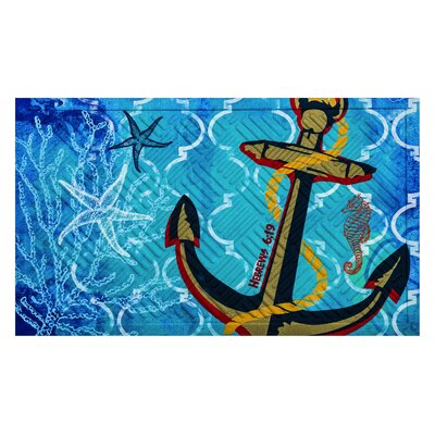 Lovella Anchor Embossed Mat