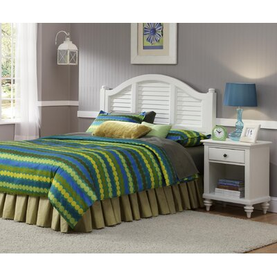 Kenduskeag Panel 2 Piece Bedroom Set Finish: Brushed White, Size: King