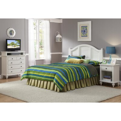 Kenduskeag Panel 3 Piece Bedroom Set Finish: Brushed White, Size: Queen