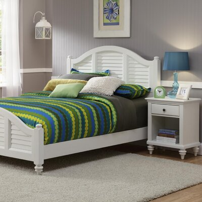 Harrison Traditional Panel 2 Piece Bedroom Set Finish: Brushed White, Size: Queen