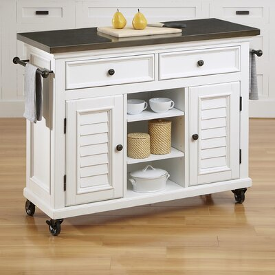 Kenduskeag Kitchen Island Base Finish: Brushed White