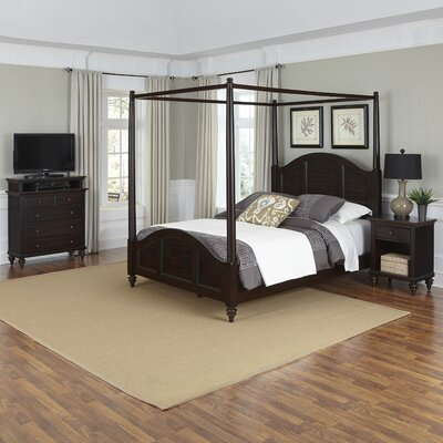 Kenduskeag Canopy 3 Piece Bedroom Set Size: King, Finish: White