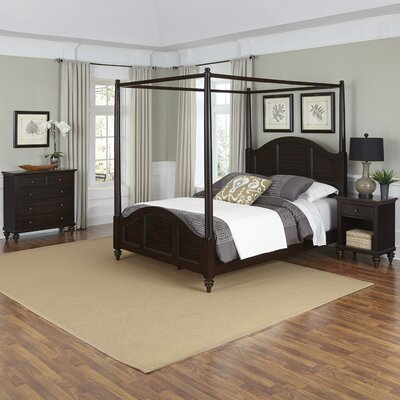 Harrison Canopy 3 Piece Mahogany Bedroom Set Size: King, Finish: White
