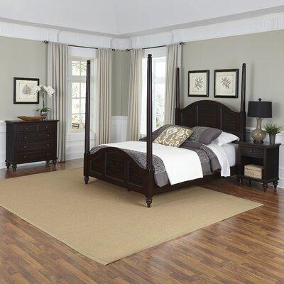 Harrison Four Poster Shutter 3 Piece Bedroom Set Size: Queen, Finish: Espresso