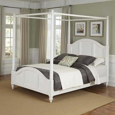 Harrison Canopy Bed Finish: Espresso, Size: King