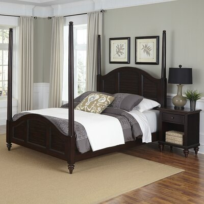 Harrison Traditional Four Poster 2 Piece Bedroom Set Size: Queen, Finish: Espresso