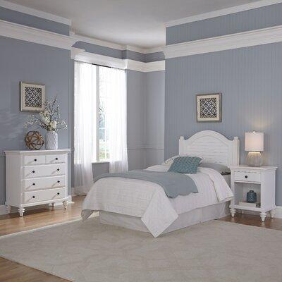 Kenduskeag Panel 3 Piece Bedroom Set Finish: Brushed White
