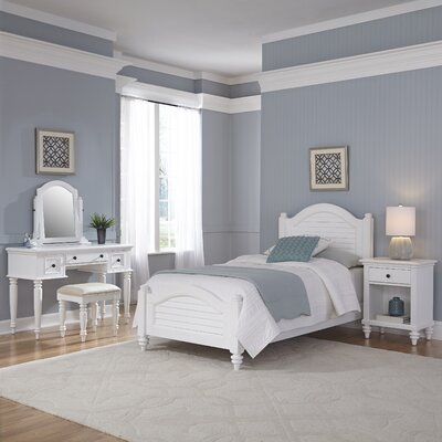 Kenduskeag Panel 5 Piece Bedroom Set Finish: Brushed White