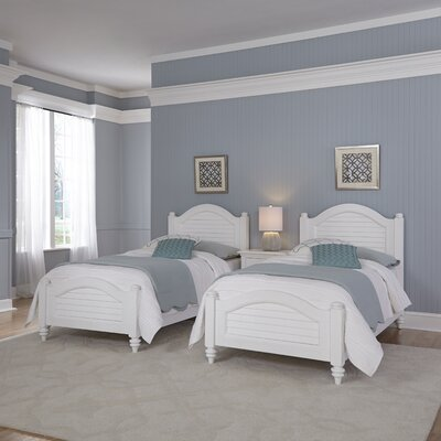 Kenduskeag Panel 3 Piece Bedroom Set Finish: Brushed White