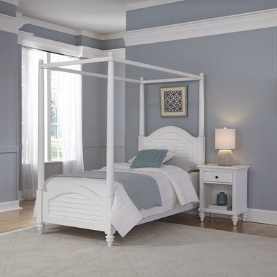 Kenduskeag Canopy 2 Piece Bedroom Set Finish: Brushed White