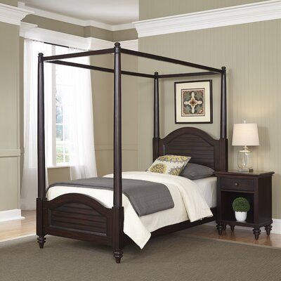 Kenduskeag Canopy 2 Piece Bedroom Set Finish: Espresso