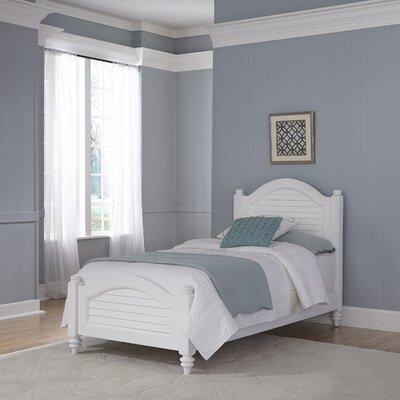 Harrison Twin Panel Bed Finish: Brushed White