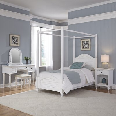 Kenduskeag Canopy 4 Piece Bedroom Set Finish: Brushed White