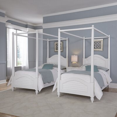Kenduskeag Canopy 3 Piece Bedroom Set Finish: Brushed White