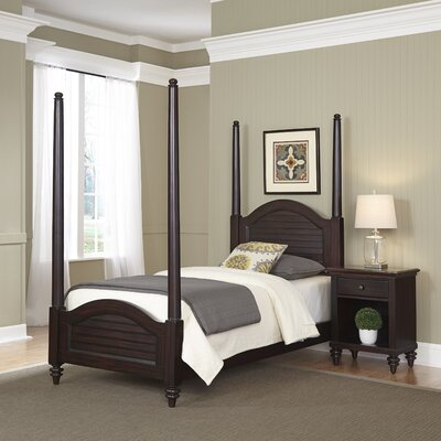 Kenduskeag Four Poster 2 Piece Bedroom Set Finish: Espresso