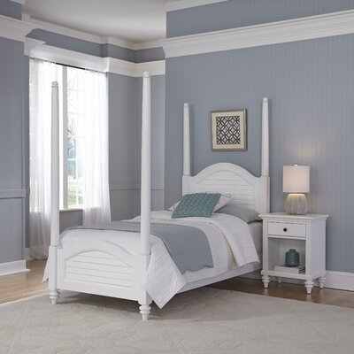 Kenduskeag Four Poster 2 Piece Bedroom Set Finish: Brushed White