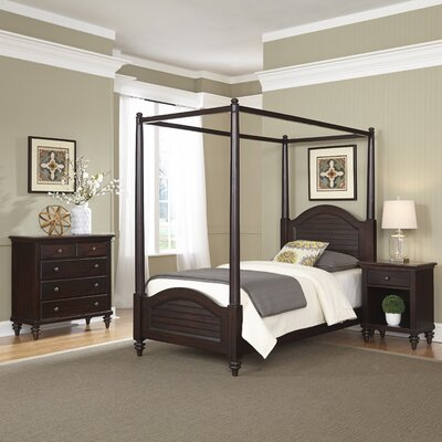 Kenduskeag Canopy 3 Piece Bedroom Set Finish: Espresso
