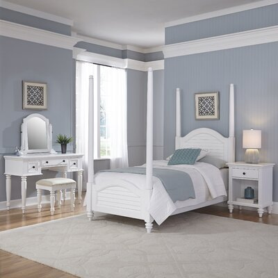 Kenduskeag Four Poster 5 Piece Bedroom Set Finish: Brushed White