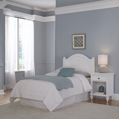 Kenduskeag Panel 2 Piece Bedroom Set Finish: Brushed White