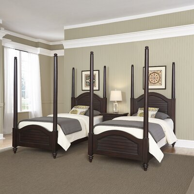Kenduskeag Four Poster 3 Piece Bedroom Set Finish: Espresso