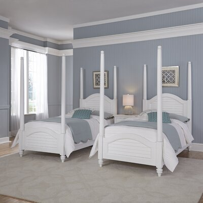 Kenduskeag Four Poster 3 Piece Bedroom Set Finish: Brushed White