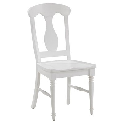 Harrison Solid Wood Dining Chair Finish: Brushed White