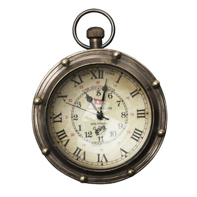 Saybrook Porthole Eye of Time Bronze Brass Clock