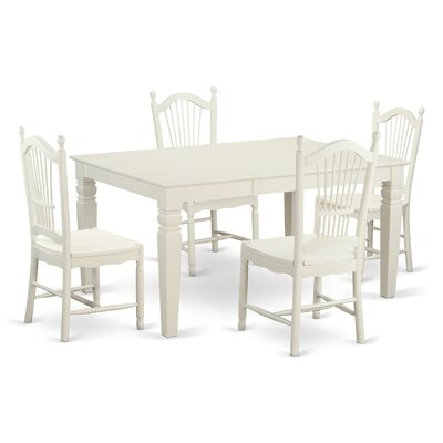Pennington Traditional 5 Piece Wood Dining Set