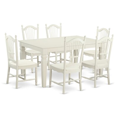 Pennington Traditional 7 Piece Solid Wood Dining Set