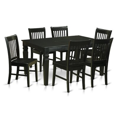 Pennington Traditional 7 Piece Wood Dining Set
